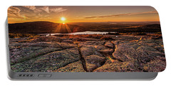 Sunset On Cadillac Mountain Portable Battery Charger