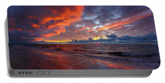 Sunset On Cape Cod National Seashore Great Island Beach Portable Battery Charger