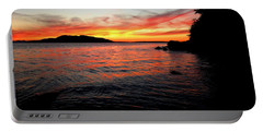 Sunset On Clayton Beach Portable Battery Charger