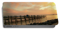 Sunset On Dewey Bay Portable Battery Charger by Trish Tritz
