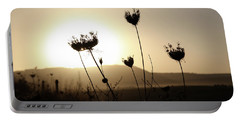 Sunset On Galilee Road Portable Battery Charger by Yoel Koskas