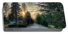 Sunset On Hilltop Drive Portable Battery Charger