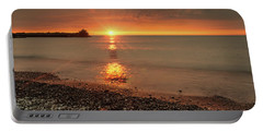 Sunset On Huron Lake Portable Battery Charger