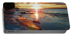 Sunset On Ice Portable Battery Charger