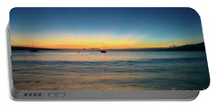 Sunset On Ka'anapali Beach Portable Battery Charger by Kelly Wade