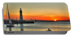 Sunset On Lake Erie Portable Battery Charger