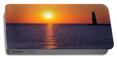 Portable Battery Charger featuring the photograph Sunset On Lake Michigan by Bruce Patrick Smith