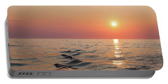 Sunset On Lake Michigan Portable Battery Charger