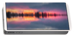 Portable Battery Charger featuring the photograph Sunset On Lake Norman by Ronald Santini