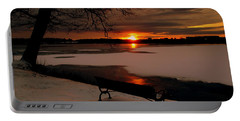 Sunset On Lake Quanapowitt Portable Battery Charger
