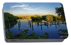 Portable Battery Charger featuring the photograph Sunset On Long Bayou by Paul Mashburn