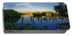 Sunset On Long Bayou Portable Battery Charger