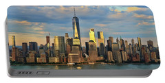 Sunset On Lower Manhattan Portable Battery Charger