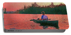 Sunset On Parker Pond Portable Battery Charger by Joy Nichols