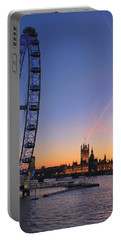 Sunset On River Thames Portable Battery Charger
