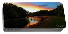 Sunset On Saco River Portable Battery Charger