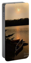 Sunset On Shell Lake Portable Battery Charger