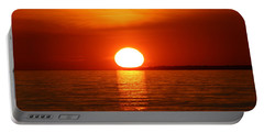 Portable Battery Charger featuring the photograph Sunset On Superior by Paula Brown
