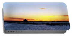 Sunset On The Bay Portable Battery Charger by Elsa Marie Santoro