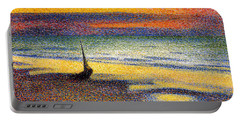 Sunset On The Beach 1891 Portable Battery Charger