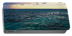 Portable Battery Charger featuring the photograph Sunset On The Caribbean by Lars Lentz