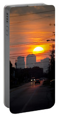 Sunset On The City Portable Battery Charger by Carolyn Marshall