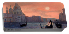 Sunset On The Grand Canal In Venice Portable Battery Charger