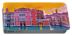 Sunset On The Grand Canal Venice Portable Battery Charger