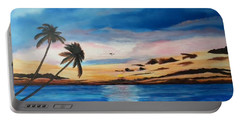 Sunset On The Island Of Siesta Key Portable Battery Charger by Lloyd Dobson