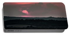 Sunset On The Lake Velence Paint Portable Battery Charger