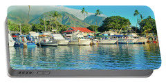 Sunset On The Marina Lahaina Harbour Maui Hawaii Portable Battery Charger