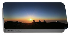 Sunset On The Mauna Kea Observatories Portable Battery Charger