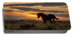 Sunset On The Mustang Portable Battery Charger