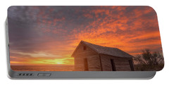 Sunset On The Prairie  Portable Battery Charger by Darren White