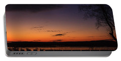 Sunset On The River Portable Battery Charger by Joni Eskridge