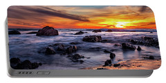 Sunset On The Rocks Portable Battery Charger