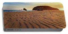 Portable Battery Charger featuring the photograph Sunset On The Sands Of Brookings by James Eddy