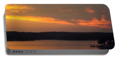 Portable Battery Charger featuring the photograph Sunset On The Shore 2 by Don Koester