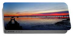 Sunset On The Shore Of Southend Portable Battery Charger