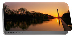 Sunset On The Washington Monument & Portable Battery Charger by Panoramic Images