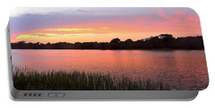 Sunset On The Waterway Portable Battery Charger