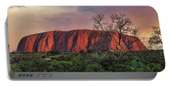 Sunset On Uluru Portable Battery Charger