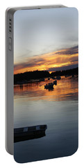 Sunset On Vinalhaven Maine Portable Battery Charger