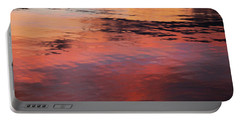 Sunset On Water Portable Battery Charger by Theresa Tahara