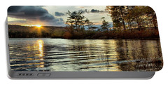 Sunset On Webster Lake  Portable Battery Charger