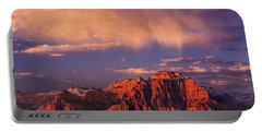 Portable Battery Charger featuring the photograph Sunset On West Temple Zion National Park by Dave Welling