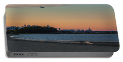 Sunset On Wollaston Beach In Quincy Massachusetts Portable Battery Charger