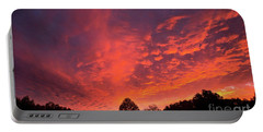 Sunset Over A Maine Farm Portable Battery Charger by Alana Ranney