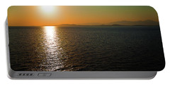 Sunset Over Aegean Sea Portable Battery Charger
