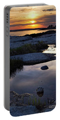 Sunset Over Boothbay Harbor Maine  -23095-23099 Portable Battery Charger